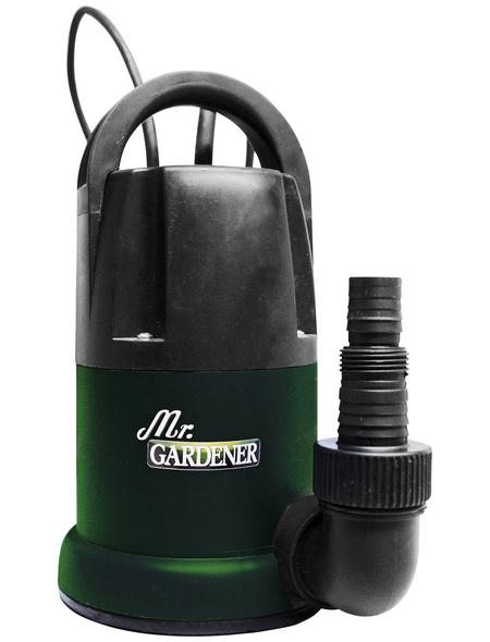 MR. GARDENER Flachsaugpumpe »S-Serie«, 400 W, Fördermenge: 7000 l/h