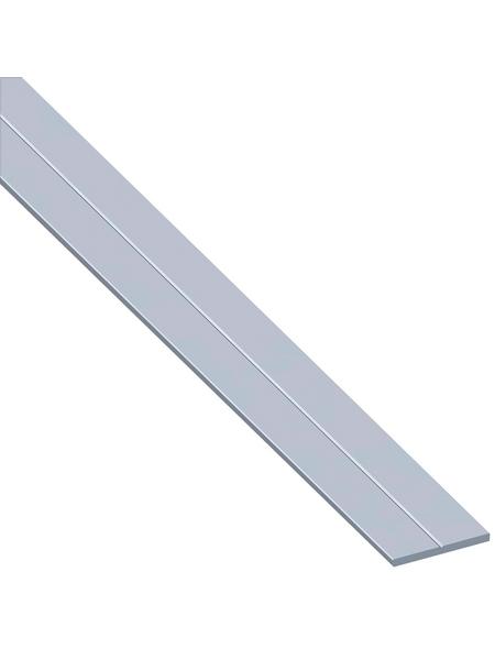 alfer® aluminium Flachstange, BxL: 7,5 x 1000 mm, silberfarben