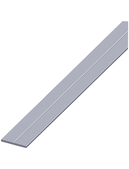alfer® aluminium Flachstange »Combitech®«, BxL: 15,5 x 2500 mm, silberfarben