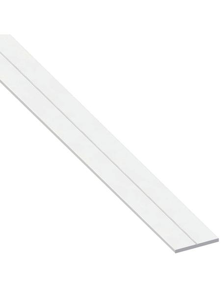 alfer® aluminium Flachstange »Combitech®«, BxL: 7,5 x 1000 mm, weiß