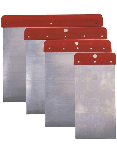 CONNEX Flächenspachtel, Metall, 12 x 5, 8, 10 und 12 cm