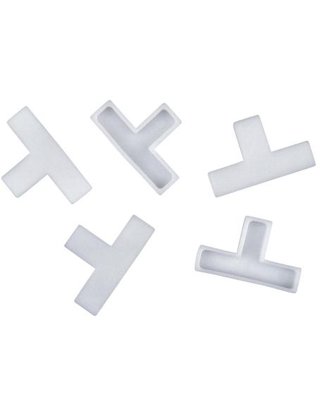 CONNEX Fliesen-T-Stück, Kunststoff, weiß, 8 mm, 200 St.