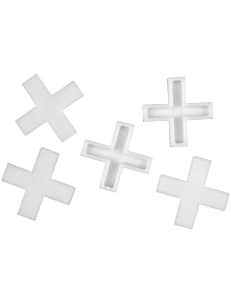 CONNEX Fliesenkreuz, Kunststoff, weiß, 5 mm, 200 St.