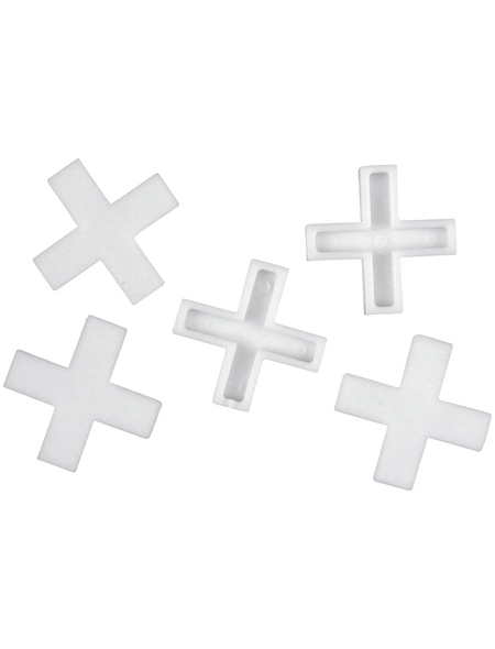 CONNEX Fliesenkreuz, Kunststoff, weiß,2mm,500St.
