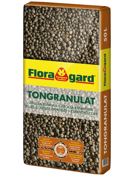 FLORAGARD Floragard Tongranulat Braun 50 l