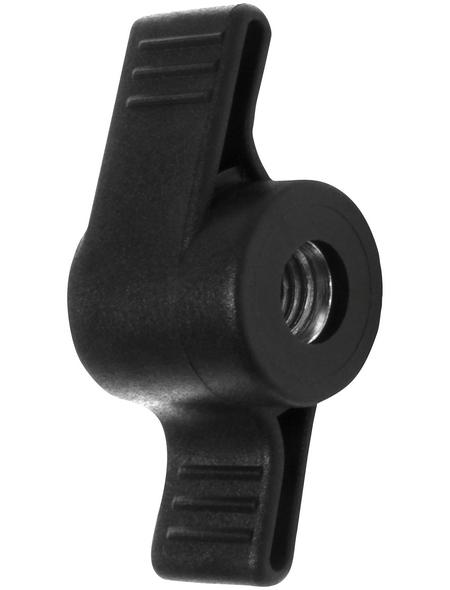 CONNEX Flügelgriffmutter, D 48 mm / M8, Schwarz, Kunststoff