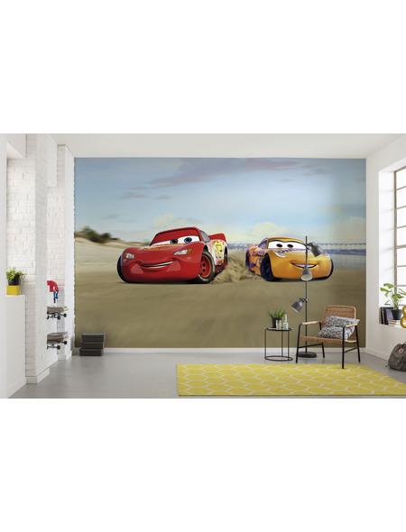 KOMAR Foto-Papiertapete »Cars Beach Race«, Breite 368 cm, inkl. Kleister