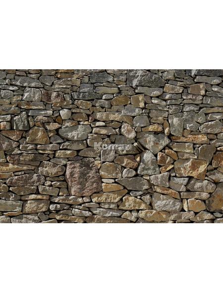 KOMAR Foto-Papiertapete »Stone Wall«, Breite 368 cm, inkl. Kleister