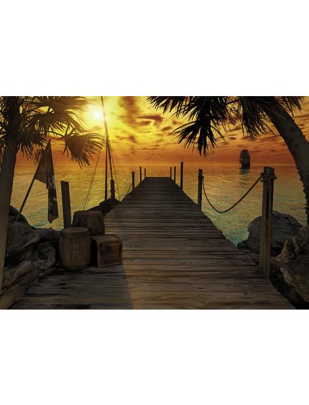 KOMAR Foto-Papiertapete »Treasure Island«, Breite 368 cm, inkl. Kleister