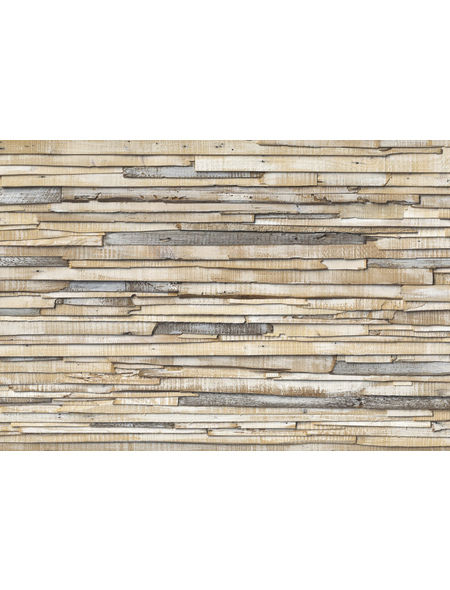 KOMAR Foto-Papiertapete »Whitewashed Wood«, Breite 368 cm, inkl. Kleister
