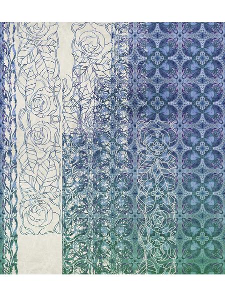 KOMAR Foto-Vliestapete »Art Nouveau Bleu«, Breite 250 cm, seidenmatt