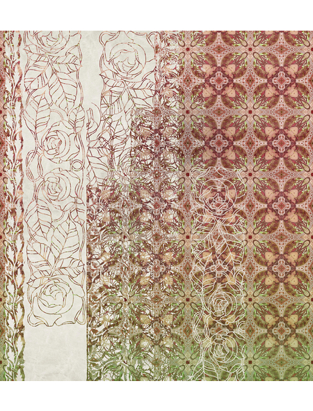 KOMAR Foto-Vliestapete »Art Nouveau Rouge«, Breite 250 cm, seidenmatt