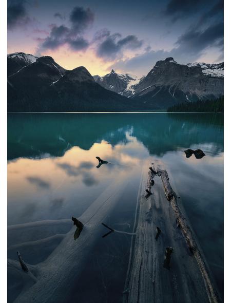 KOMAR Foto-Vliestapete »Burning Emerald«, Breite 200 cm, seidenmatt
