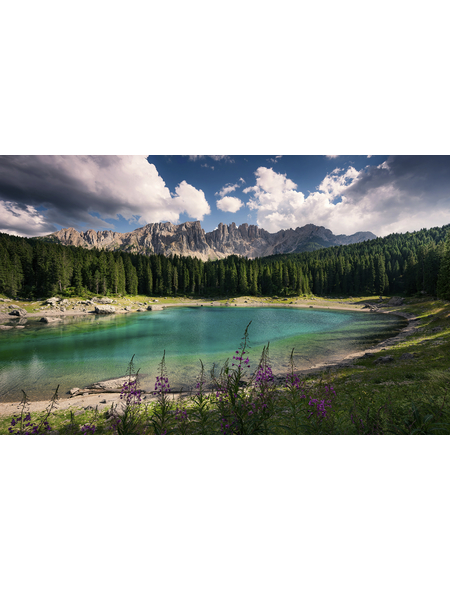 KOMAR Foto-Vliestapete »Dolomitenjuwel«, Breite 450 cm, seidenmatt