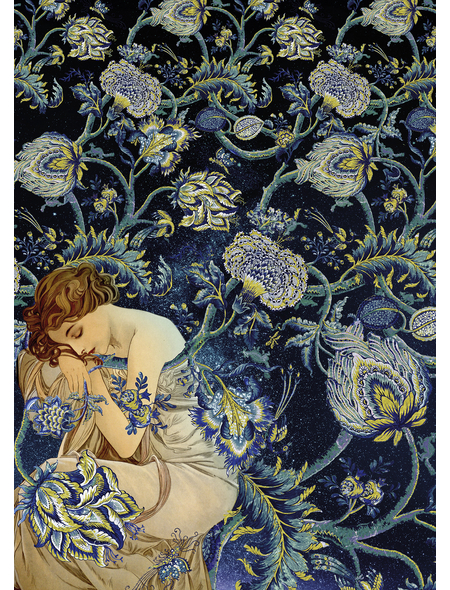KOMAR Foto-Vliestapete »Femme dOr«, Breite 200 cm, seidenmatt