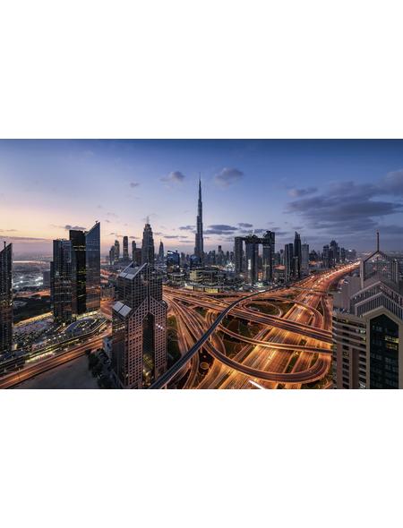 KOMAR Foto-Vliestapete »Lights of Dubai «, Breite 450 cm, seidenmatt