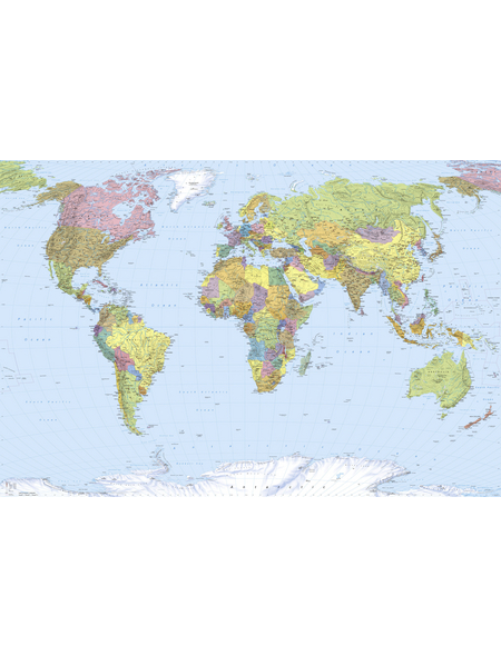 KOMAR Foto-Vliestapete »Map«, Breite 368 cm, inkl. Kleister