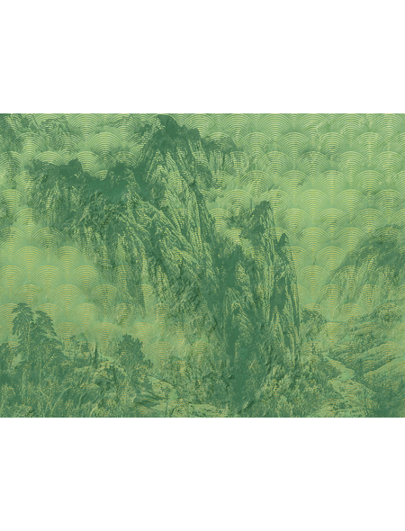 KOMAR Foto-Vliestapete »Montagnes«, Breite 400 cm, seidenmatt