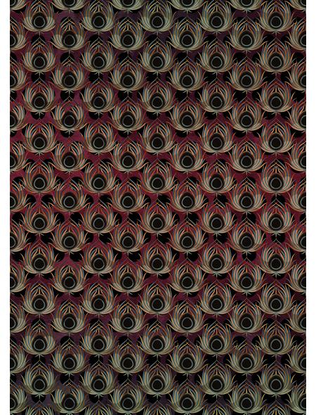 KOMAR Foto-Vliestapete »Paon Rouge«, Breite 200 cm, seidenmatt