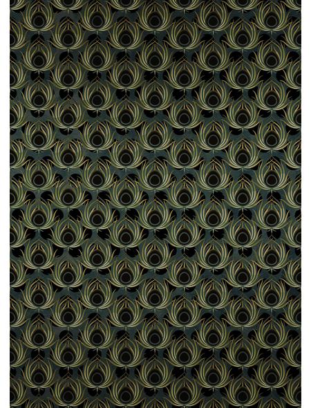 KOMAR Foto-Vliestapete »Paon Vert«, Breite 200 cm, seidenmatt