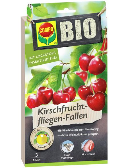 COMPO Fruchtfliegen-Falle »BIO«, Leim, 3 Stk., Bio-Qualität
