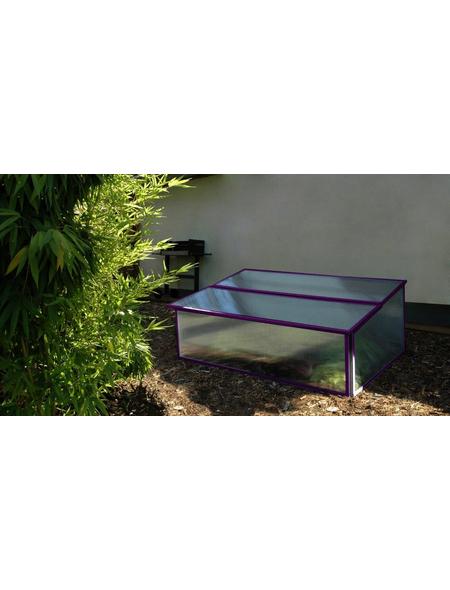 PERGART Frühbeet »Levana 1«, B x L x H: 97.5 x 57 x 36 cm, Aluminium, lila
