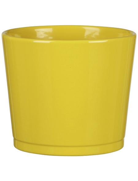 SCHEURICH Frühlingstopf »SPRING«, Höhe: 10,5 cm, gelb, Keramik
