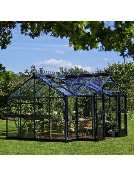 JULIANA Fundament für Gewächshäuser »Orangerie«, BxHxt: 439 x 12 x 296 cm, Stahl