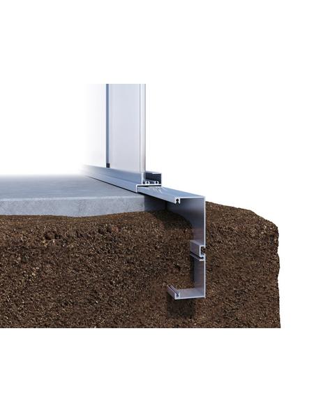 KGT Fundamentrahmen für Gewächshäuser »Rhodo«, BxT: 227 x 301 cm, Aluminium
