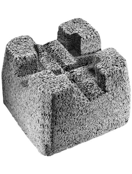 MR. GARDENER Fundamentstein »Fundamentstein«, BxHxL: 22 x 17 x 22 cm, Beton