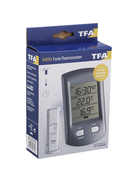 tfa® Funk-Thermometer RATIO digital Kunststoff 6,8 x 11,3 x 2,9 cm