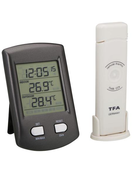 tfa® Funk-Thermometer RATIO digital Kunststoff 6,8 x 11,3 x 2,9 cm