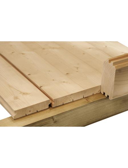 WOLFF Fußboden für Gartenhäuser, BxHxt: 298 x 1,6 x 238 cm, Fichtenholz