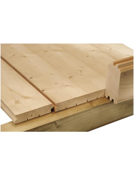 WOLFF Fußboden für Gartenhäuser, BxHxt: 330 x 1,8 x 330 cm, Fichtenholz