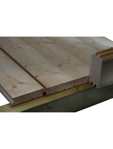 WOLFF Fußboden für Gartenhäuser, BxHxt: 400 x 18 x 300 cm, Fichtenholz