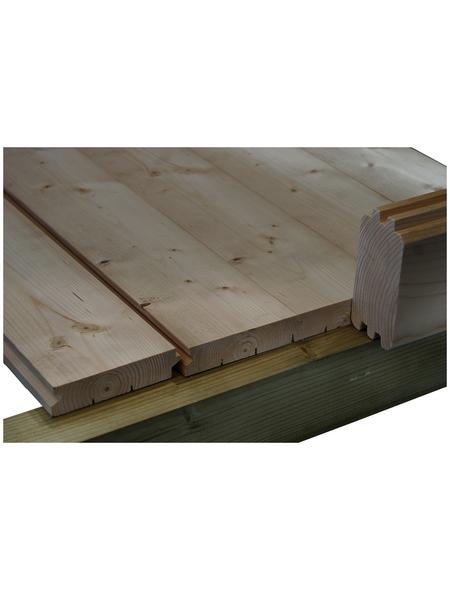 WOLFF Fußboden für Gartenhäuser, BxT: 380 x 380 cm, Fichtenholz