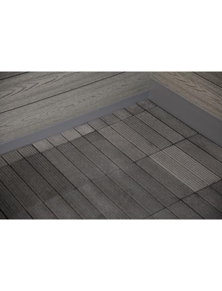 WOLFF Fußboden für Gartenhäuser  »WPC-Trend D«, BxHxt: 287 x 1,9 x 287 cm, Wpc