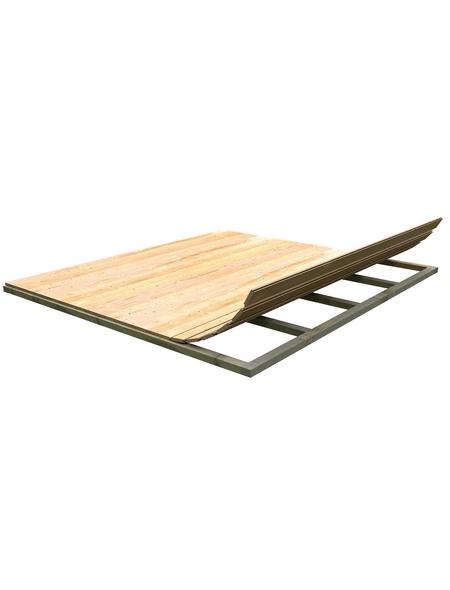 KARIBU Fußboden für Gartenhaus, BxT: 370 x 280 cm, Fichte