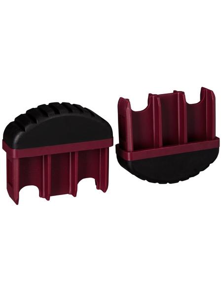 KRAUSE Fußstopfen, BxHxT: 6,15 x 5,4 x 2 cm, Kunststoff, schwarz/violett