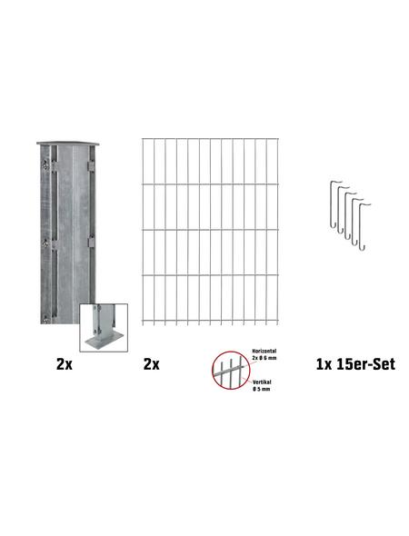 FLORAWORLD Gabionen-Set, BxHxL: 12 x 103 x 201 cm, Stahl