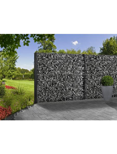 FLORAWORLD Gabionen-Set, BxHxL: 12 x 123 x 201 cm, Stahl