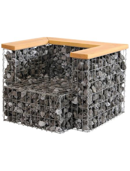 BELLISSA Gabionensessel, BxHxL: 78 x 64 x 95 cm, stahl/douglasienholz
