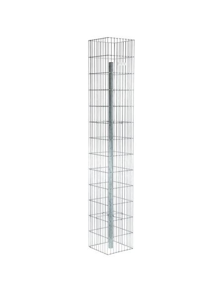 BELLISSA Gabionenstele »Pronto«, BxHxL: 30 x 195 x 30 cm, Stahl