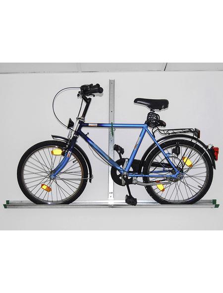 EUFAB Garagen-Wandhalter, Stahl, silbermetallic, für alle Fahrradtypen