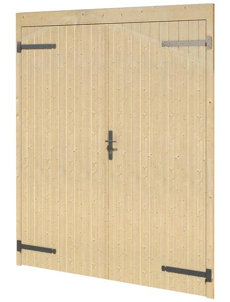 LASITA MAJA Garagentor »Hawaii und Nevis«, BxH: 239 x 202 cm, Holz, natur