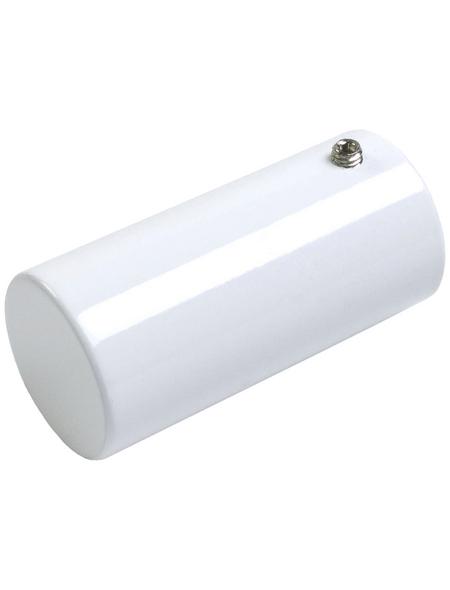 LIEDECO Gardinenendstück, Zylinderförmig, 20 mm, Weiß