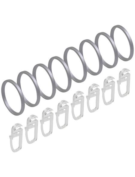 LIEDECO Gardinenstangen-Ring Ø 20 mm, Aluminium