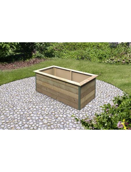 KARIBU Garten-Fertigbausatz »Douglasienhochbeet«, B x L x H: 216 x 112 x 77 cm