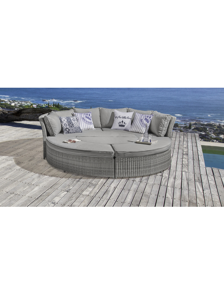 Garten-Rundsofa »Fiana«, 8 Sitzplätze, inkl. Auflagen