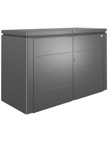 BIOHORT Gartenbox »HighBoard«, BxHxT: 200 x 127 x 84 cm, dunkelgrau-metallic